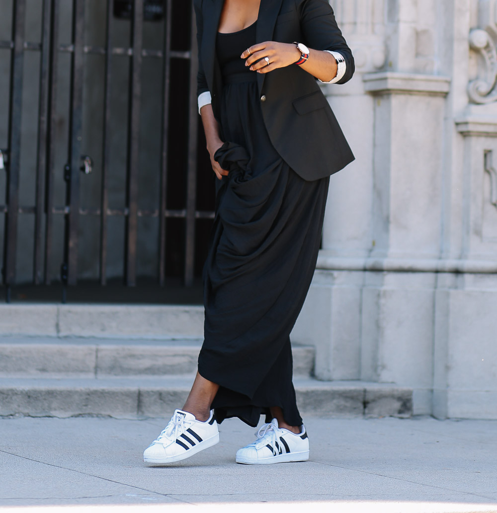 Maxi skirt and adidas super star-7